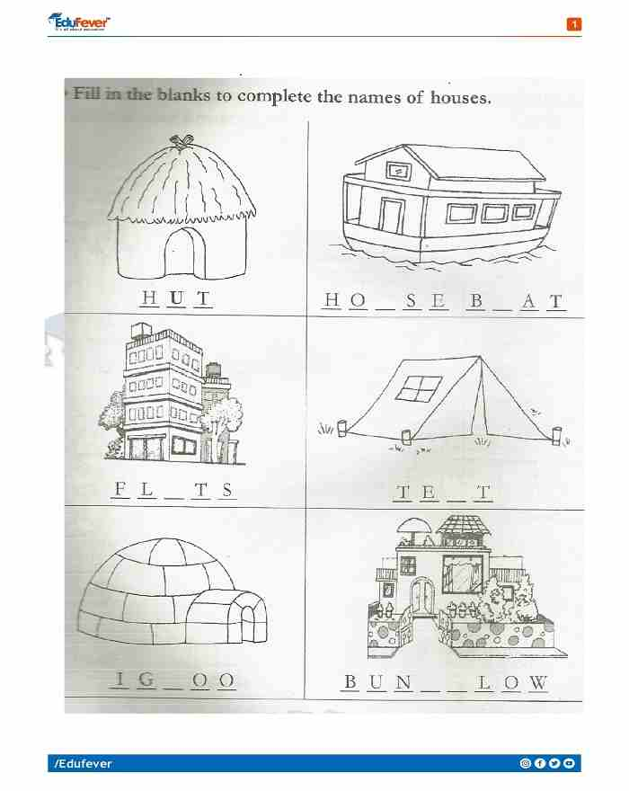 Class 1 EVS Holiday Homework