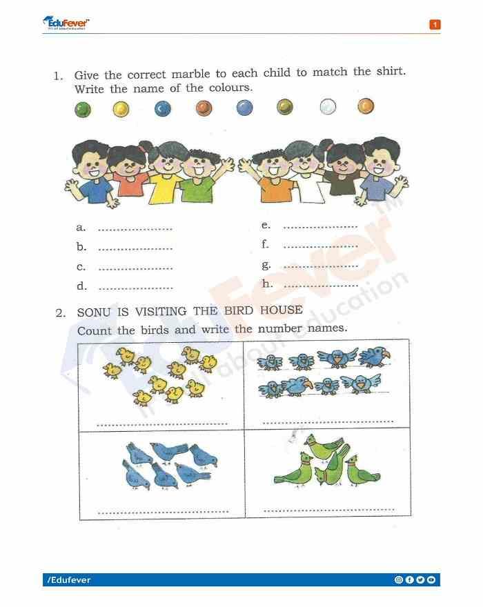 Class 1 English Holiday Homework
